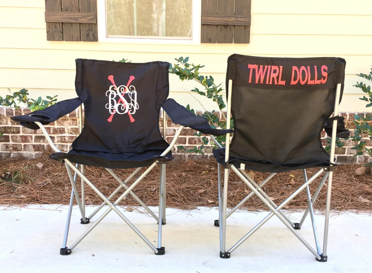 custom folding chairs wooden chair mat personalized twirl