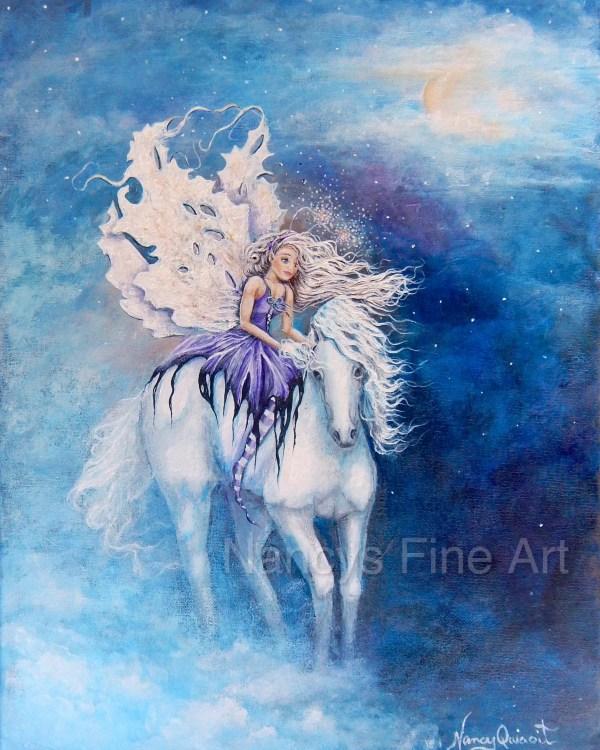 Moon Fairy Art Paintings