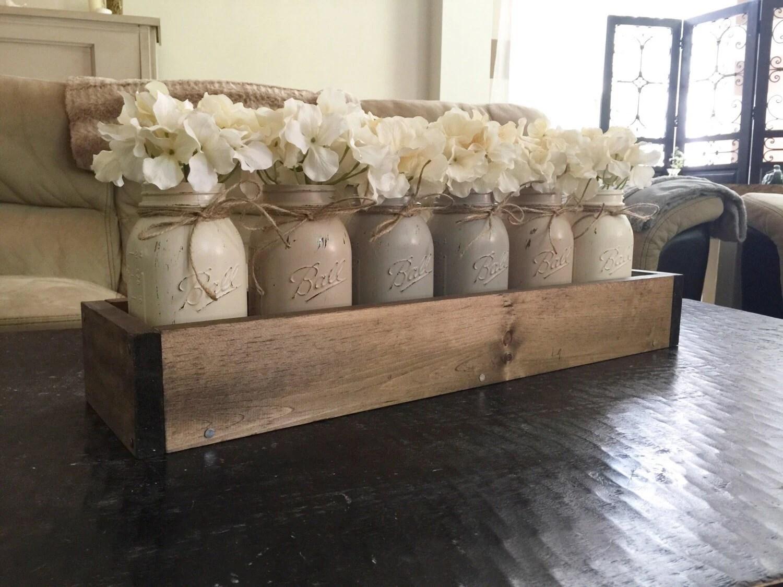 Mason Jar Centerpiece Mason Jar Planter Box Farmhouse Decor