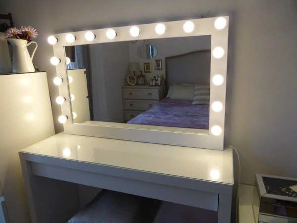 Xl Hollywood Vanity Mirror 43 X 27'' Makeup
