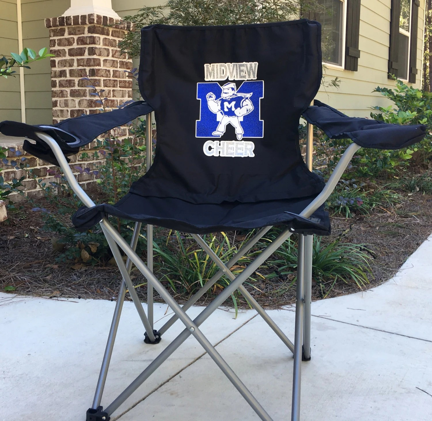personalized folding chair shabby chic covers target monogrammed coaches gift custom camp