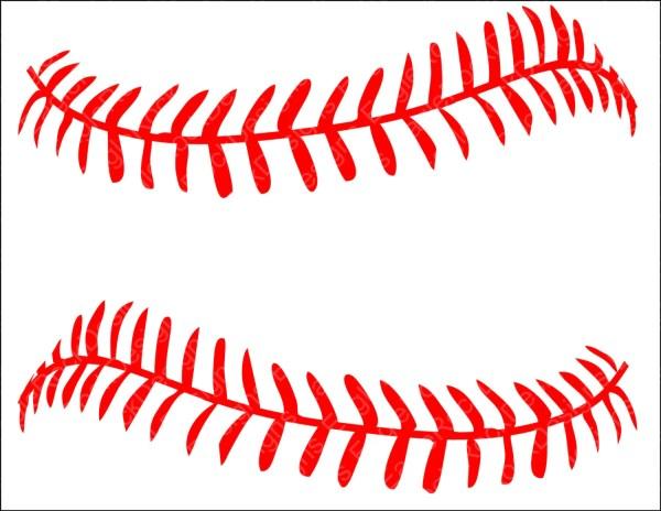 baseball softball lacessvg dxf