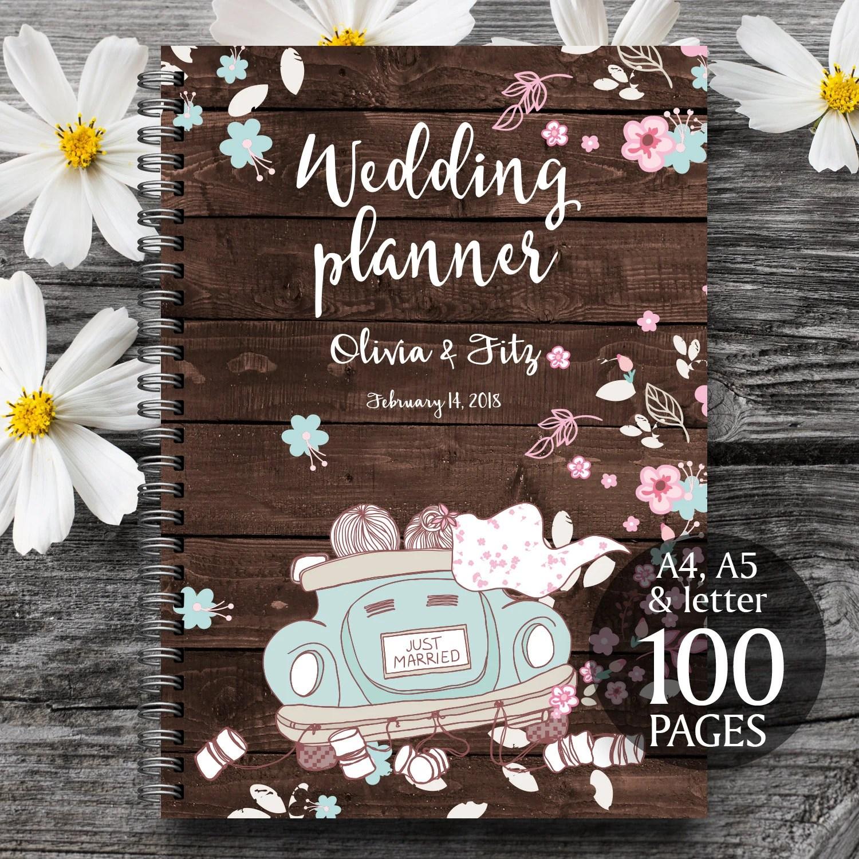 Printable Wedding Binder Wood Wedding Planner Wood Wedding