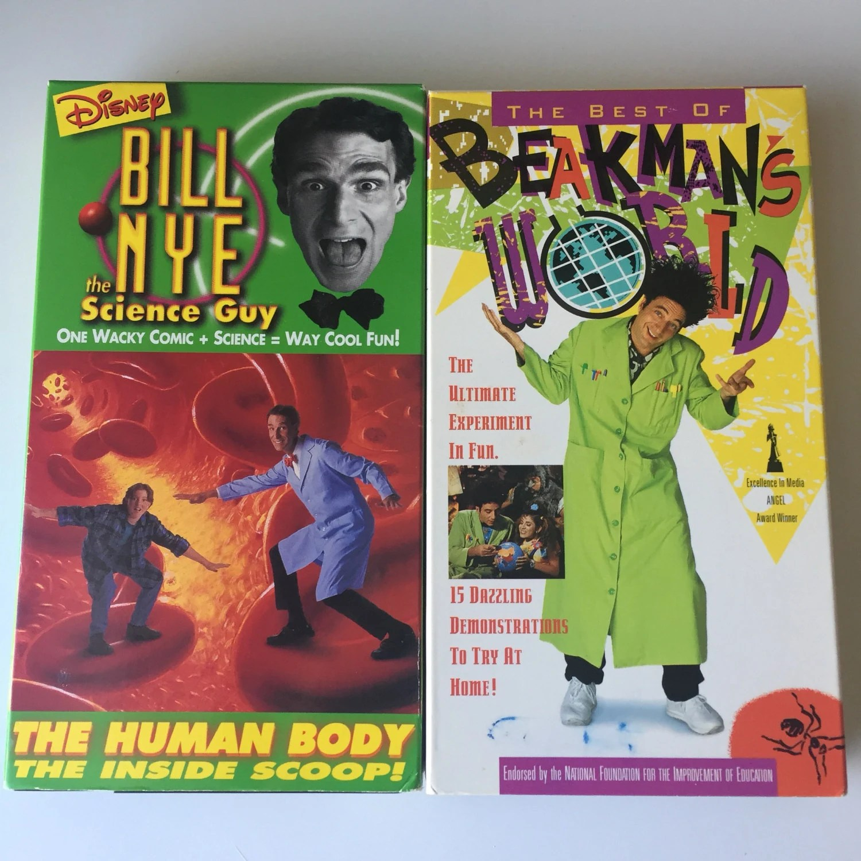 90 S Vhs Bill Nye The Science Guy Amp Beakman S World