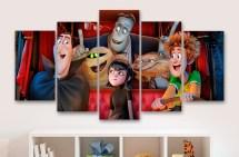 Hotel Transylvania Childrens Movie 5 Piece Panel Canvas