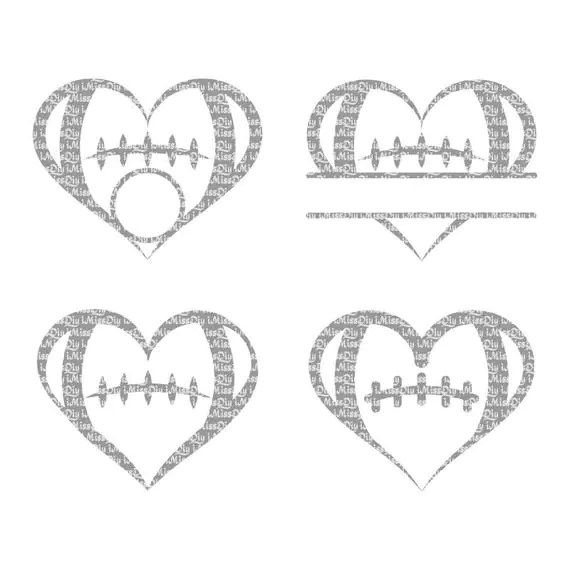 Love football svg mom heart coach laces stitches birthday