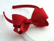 red hair bow headband girls