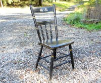Antique Single Plank Windsor Seat Farmhouse Cottage Chair