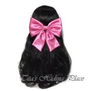 bubble gum hair bow