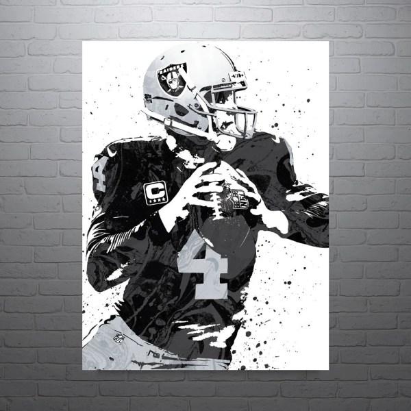 Derek Carr Oakland Raiders Poster Pixartsy