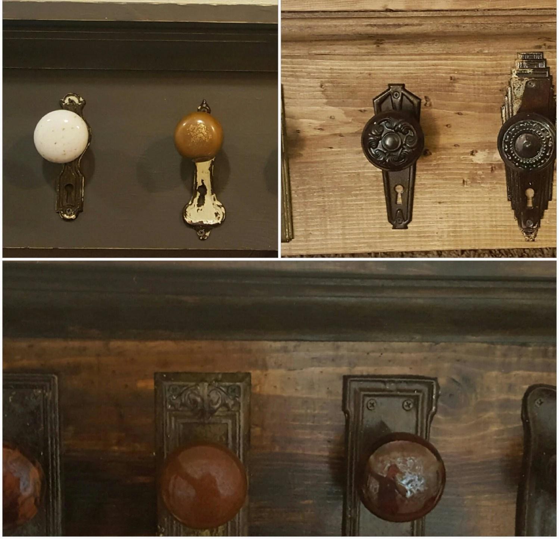 Antique Glass Door Knob Coat Rack