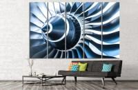 Air Turbine Canvas Print Aviation Wall Art Engine Propeller