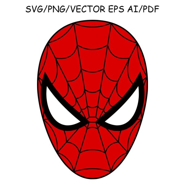 Spiderman Mask Svg Dxf Clipart Vector Cut File