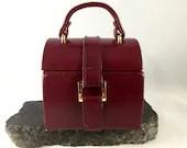 Vintage Red Leather Jewel...