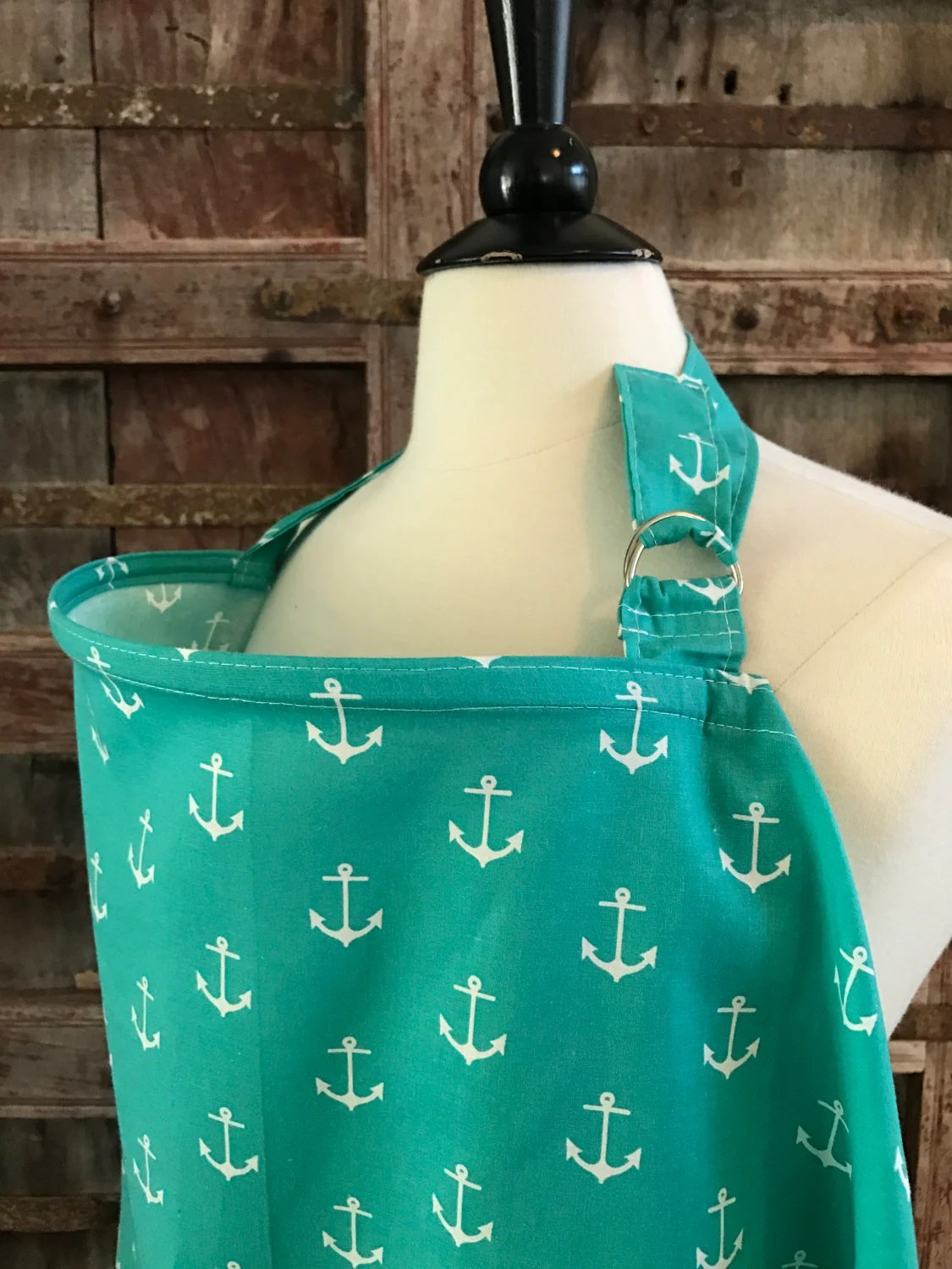 Nursing CoverTeal ChevronFree Shipping When Purchased With A