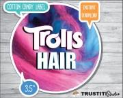 trolls cotton candy label