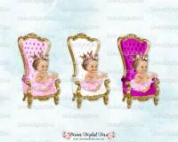Baby Throne Chair Fuchsia White Pink Gold