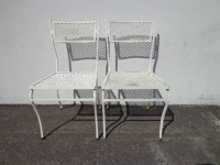Patio Chairs Pair Russell Woodard Metal Mesh Wrought Iron ...