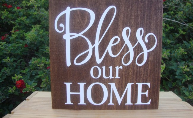 Bless Our Home Rustic Wall Decor Bless Our Home Wooden Sign