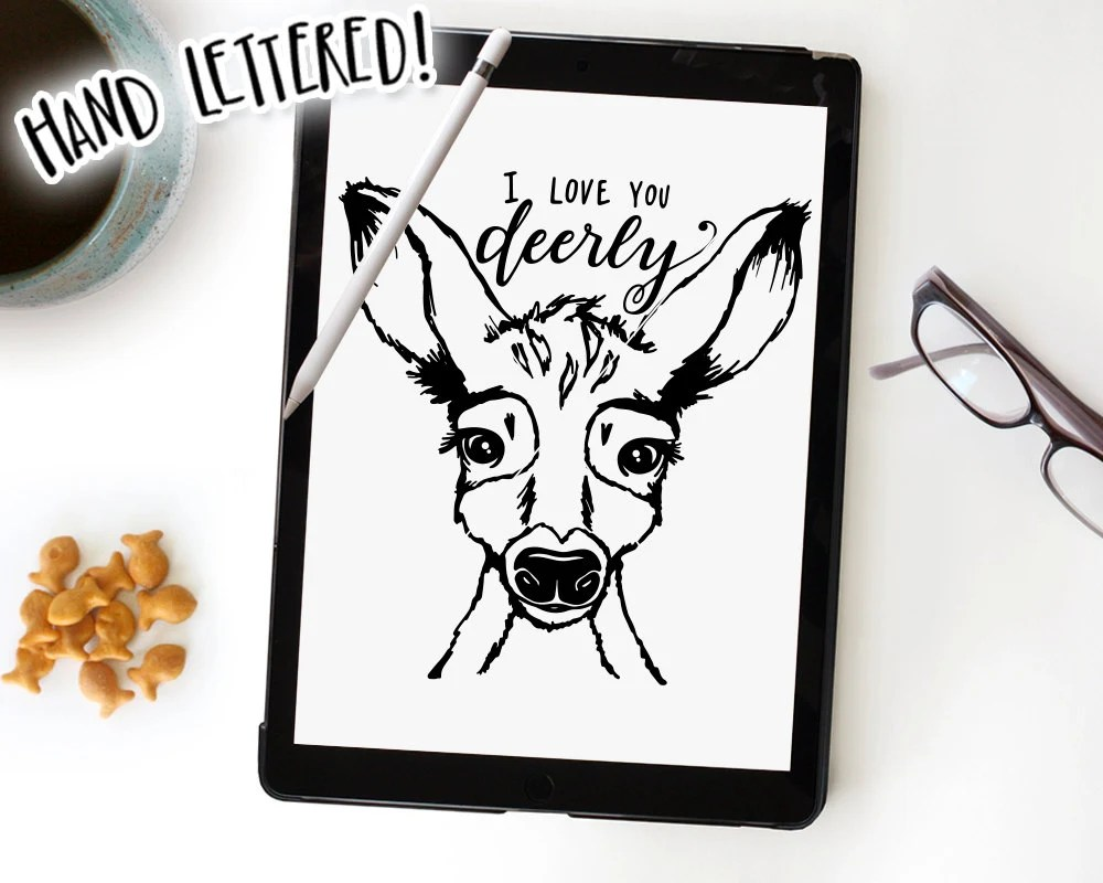 Download I Love You Deerly SVG Cut File, Deer Cutting File, Baby ...