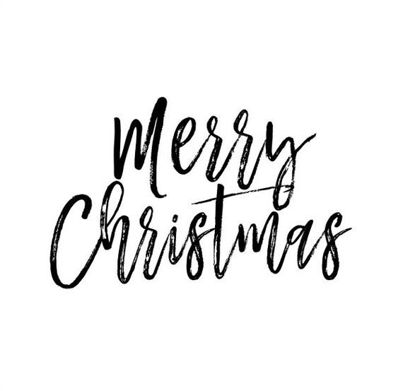 merry christmas text overlay clip