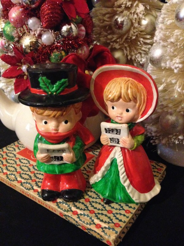 Ceramic Christmas Carolers Figurines