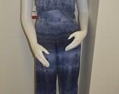 Denim blue stretch knit f...
