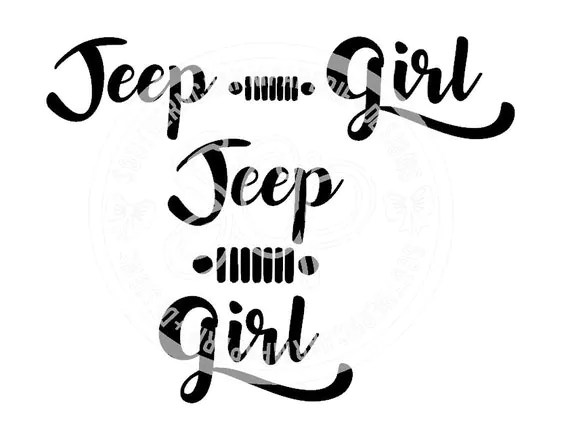 JEEP Girl 2 Versions JEEP Wrangler Offroad 4x4 SVG Cut