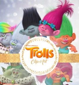Trolls Clipart - Digital 300 DPI PNG Images, Photos, Scrapbook, Digital, Cliparts - Instant Download