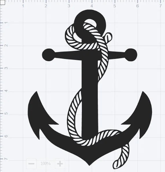 Download Sailing Anchor SVG EPS DXF pdf Studio 3 Cut Files