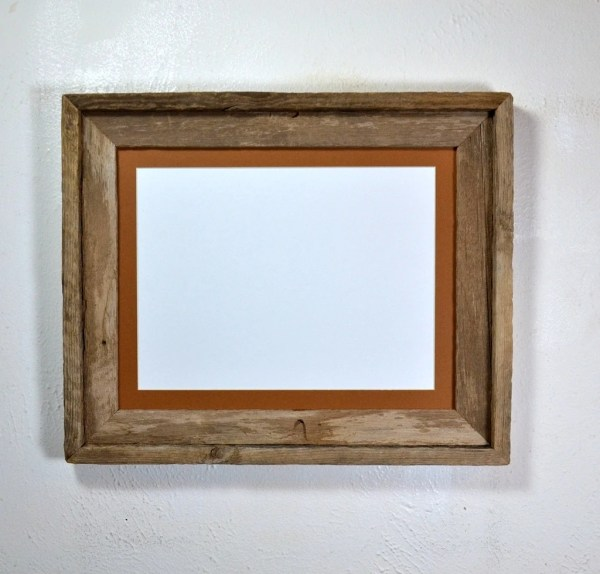11x14 Earth Friendly Barnwood Frame With Mat 8x10