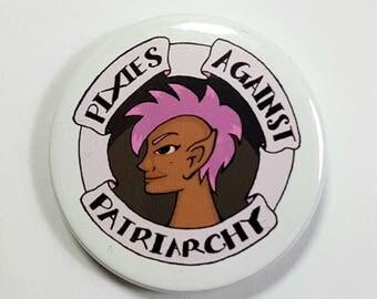 Stop Patriarchy Feminist Logo 25mm Lapel Pin