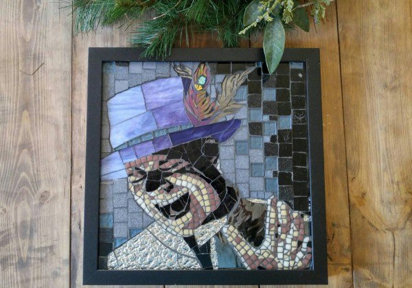 Courage Fan Art Suncatcher Mosaic Gord Of Hip Silver