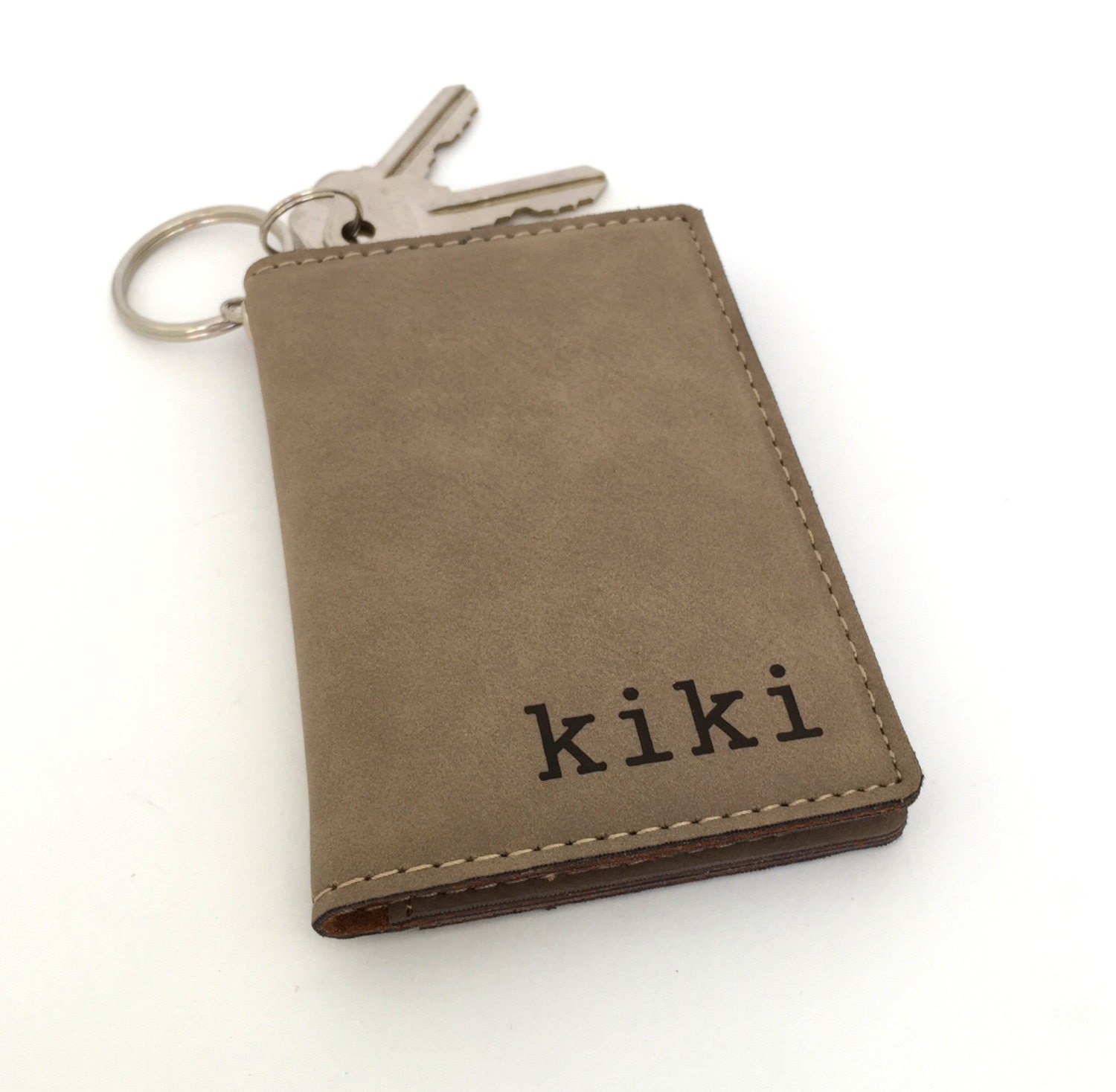 Personalized ID Holder Keychain Wallet Christmas Present