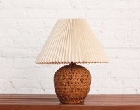 Clam Shell Mid Century Brass Floor Lamp by OtherTimesVintage