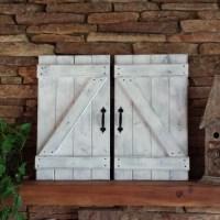 RUSTIC BARN DOORS set of 2 Rustic Gallery Wall Mountain