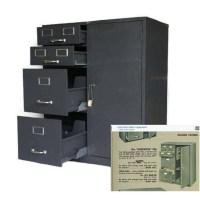 1950s Cole Steel Filing Cabinet With Safe Vintage Steel