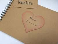 Personalised rustic bridal shower gift, rustic hen party ...