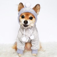 HANDMADE dog clothes XS4XLGray sweater dog hoodie pet