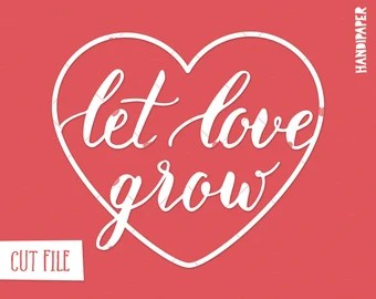 Download Love grows stencil | Etsy