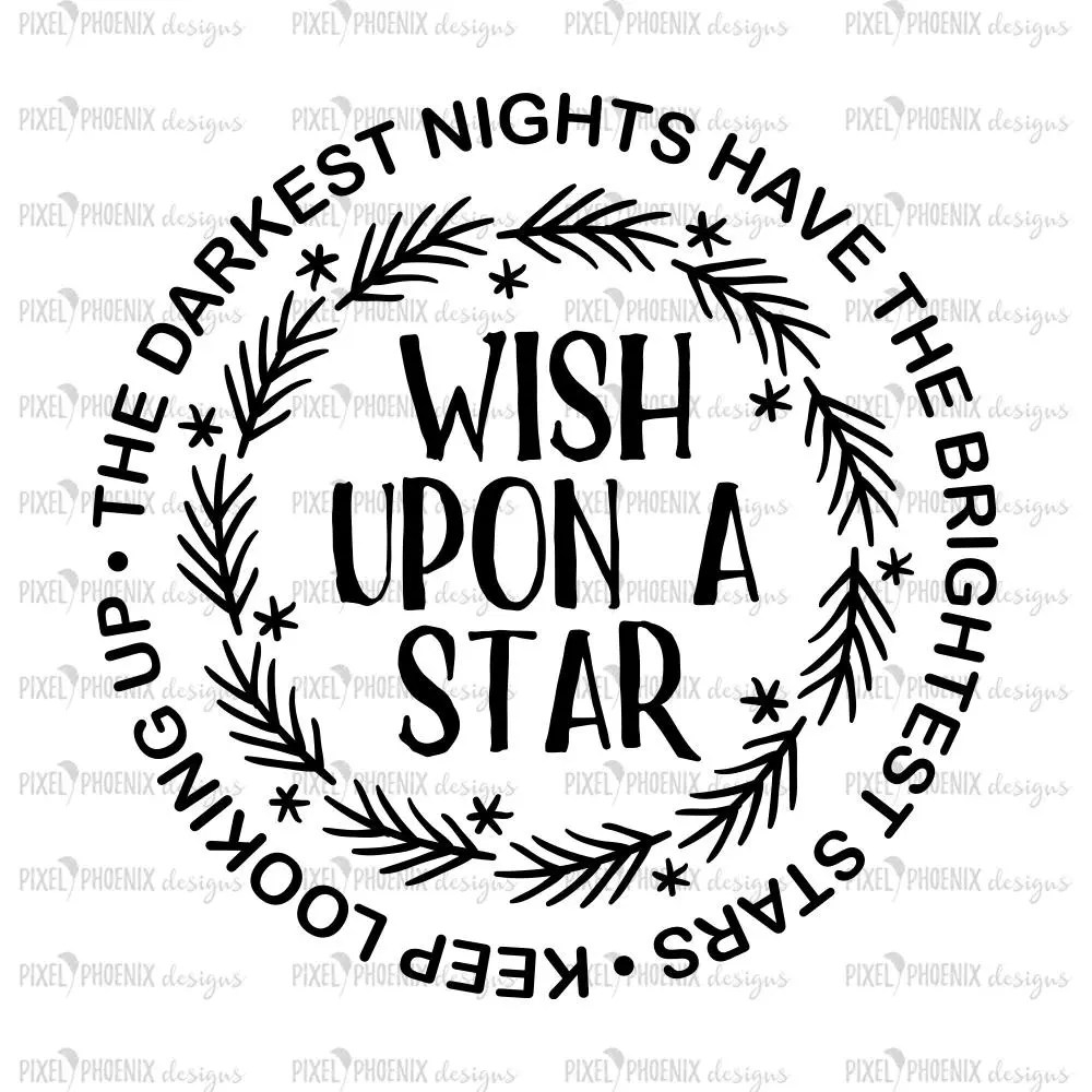 Wish upon a star svg, instant download, coffee mug decals