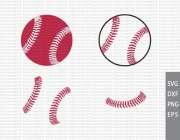 baseball stitches silhouette studio
