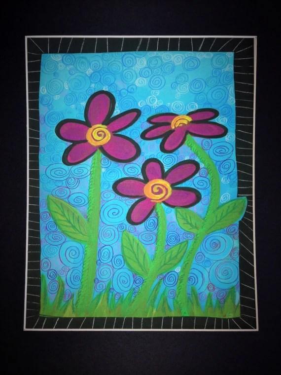 "Print ""Swirl Flowers"""
