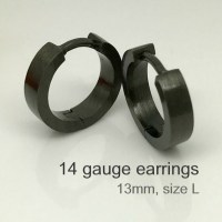 14 gauge cartilage earrings in obsidian night men's hoop