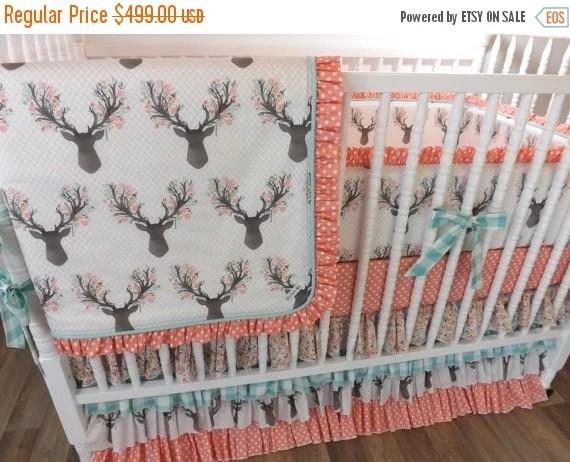 SALESALESALE Deer Crib Bedding Made To Order by