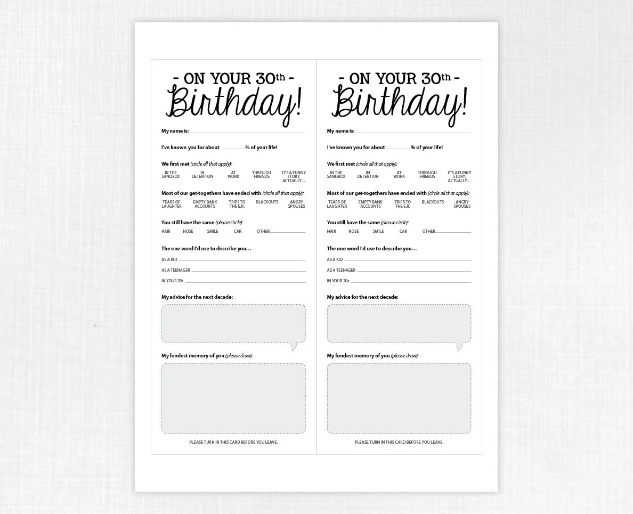 80th Birthday Party Game Card Funny Milestone Printable PDF