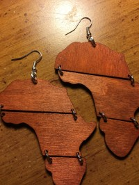 Africa Wood Shaped Earrings