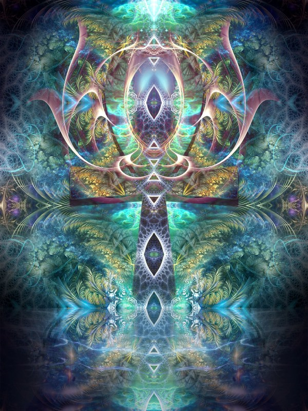 Ankh Visionary Art Psychedelic Fractal