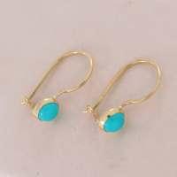 Turquoise Earrings Gold Turquoise Drop Earrings Gold Drop