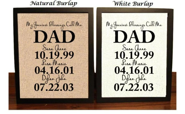 Personalized Gift For Dad Fathers Day Gift From Kids Gifts